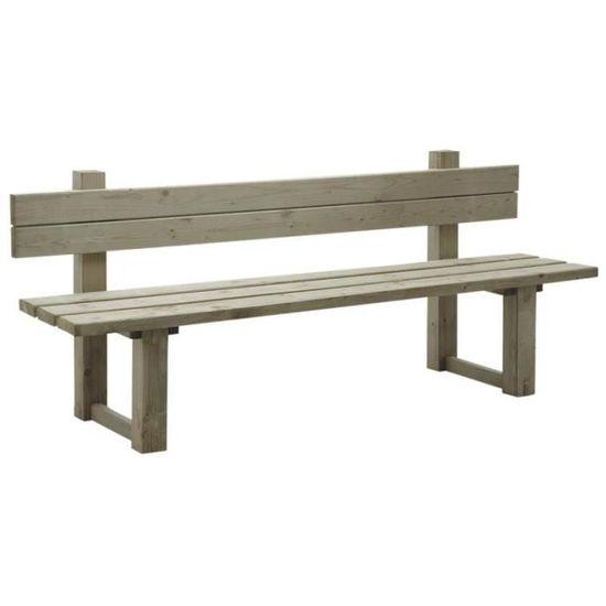 Banc de jardin en bois traite autoclave pour l\'exterieur ...