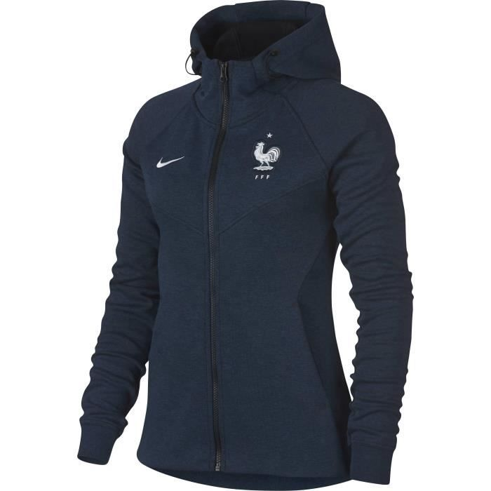 NIKE Sweatshirt de football Fleece FFF France 2018 - Femme - Bleu