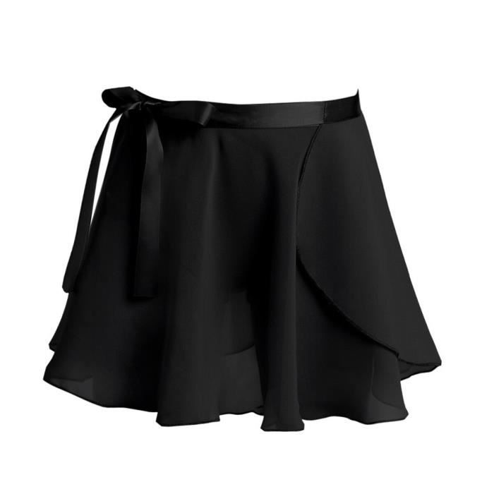 Jupe Tutu classique de danse princesse pour enfants, en mousseline de soie, avec cravate à la taille, pour spectacle [E18E2C9]