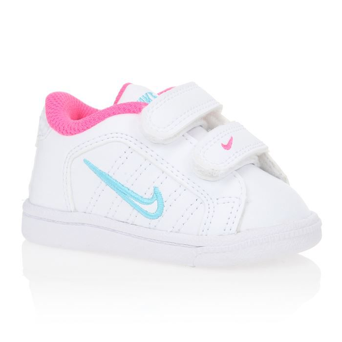 nike baskets court tradition 2 plus tdv b b fille blanc bleu et rose achat vente basket. Black Bedroom Furniture Sets. Home Design Ideas