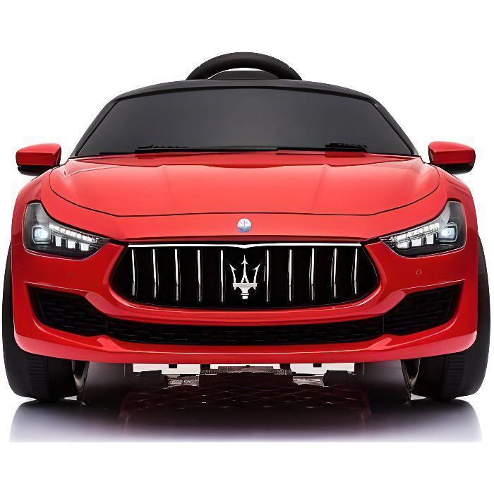 Maserati Ghibli 12v Rouge - Voiture électrique pour enfant avec batterie 12v et télécommande