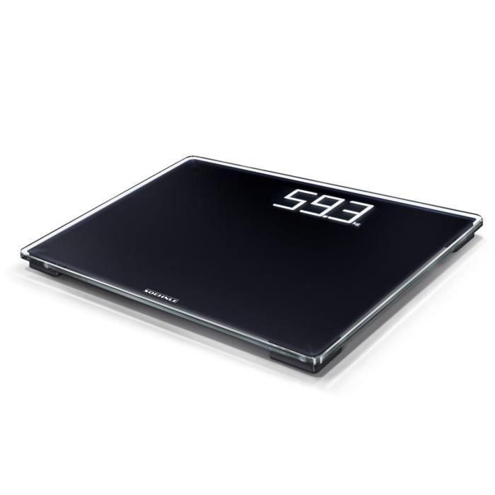 Soehnle 63862 Pèse-Personne numérique -Style Sense Comfort 500- Plastique Noir 39x33.5x3.5 cm