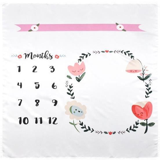 Tapis d'éveil,100*100cm bébé tapis de jeu fleur couverture photographié accessoires nouveau né lange d'emmaillotage - Type 1