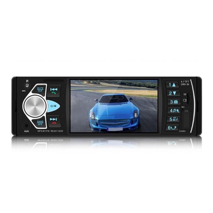 Nouveau 4022D Autoradio 1 Din Autoradio Bluetooth 4.1 Auto Radio Support vue arrière caméra commande au volant - Type Black