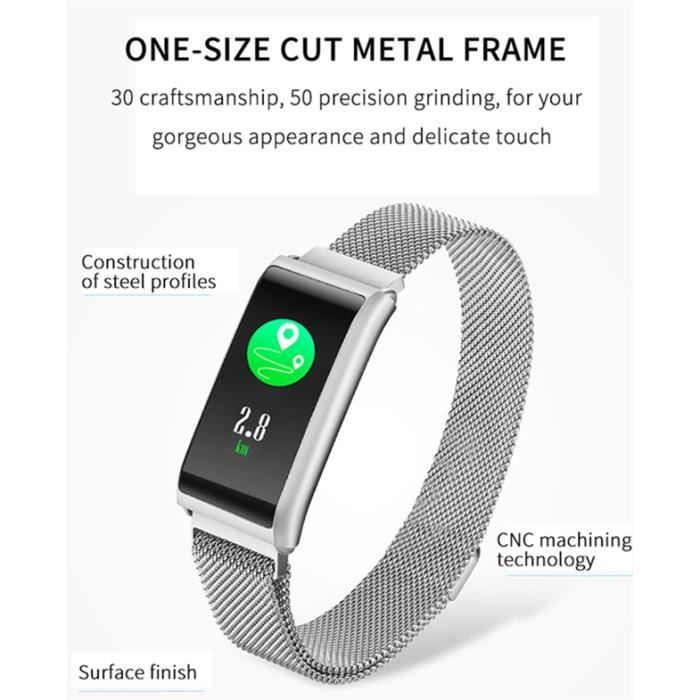 Smartwatch, Montre Connectée GPS Fitness Tracker d'Activité Tension Artérielle Smartwatch Sport Femme Homme - blanc
