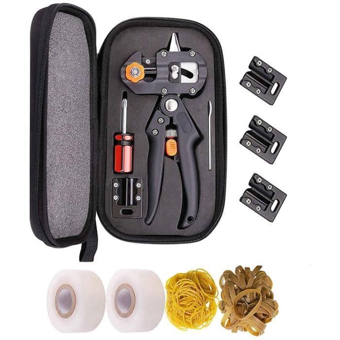 Kit d'outils de greffageCiseaux de Greffage Professionnel Ciseaux de Jardinage Pince à Greffer Les Arbres Kit de Greffe de Jard 948
