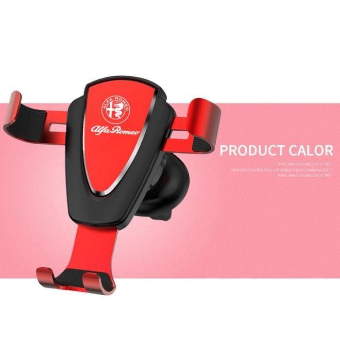 Supports voiture,Voiture Installation évent gravité support téléphone portable GPS support pour téléphone portable - Type Rouge