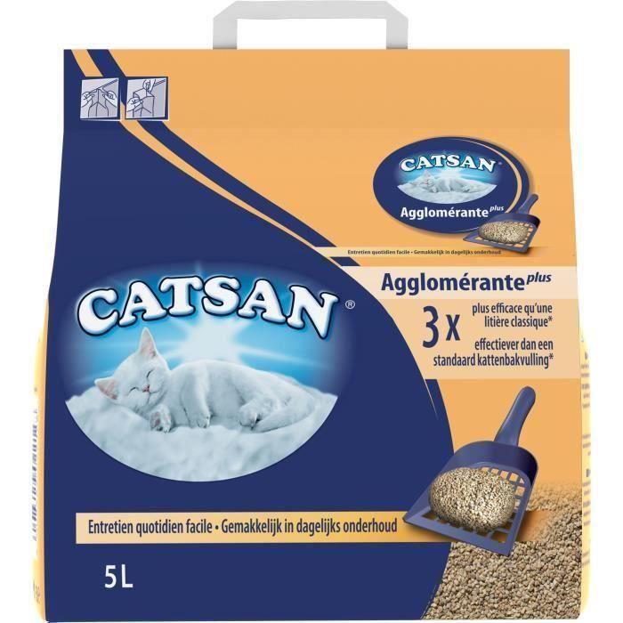 [LOT DE 3] CATSAN Litière minérale agglomérante 5 L - Pour chat