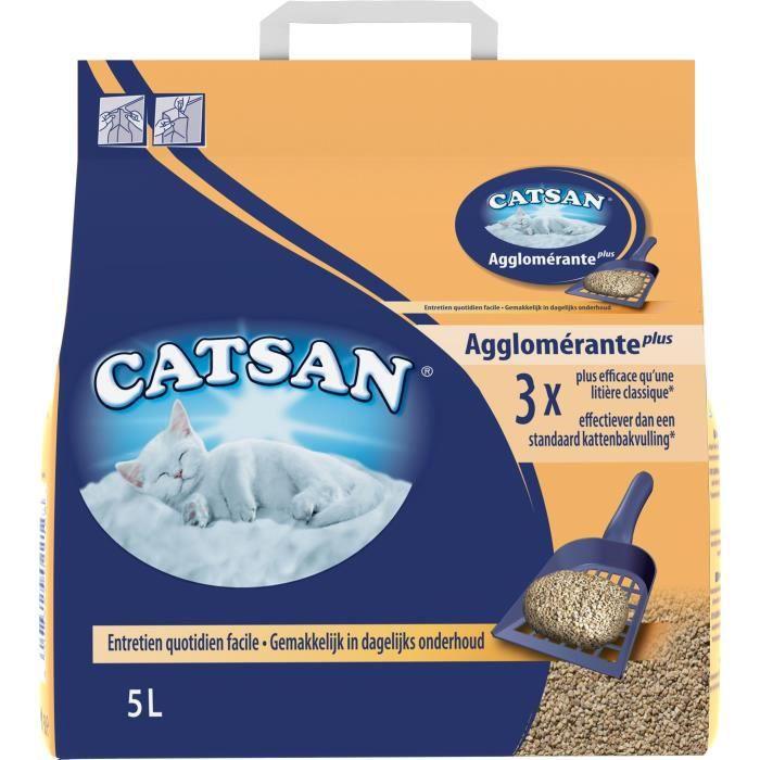 CATSAN Litière minérale agglomérante 5 L - Pour chat
