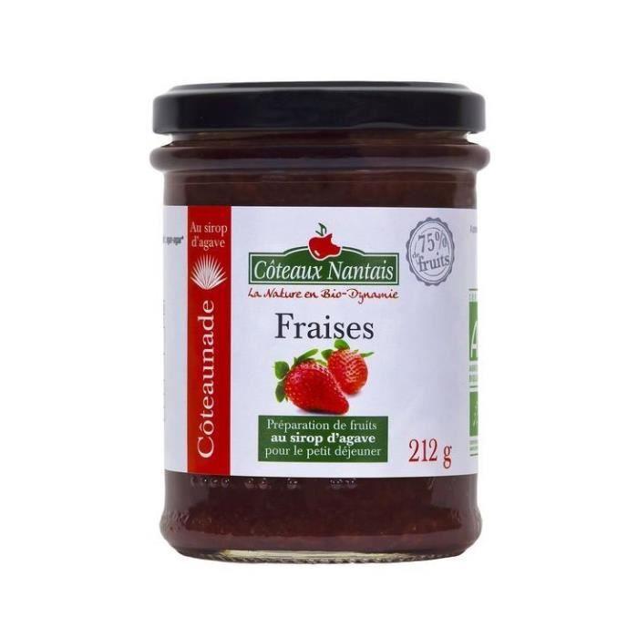Coteaux Nantais - Coteaunade fraise 75% & agave 212gr