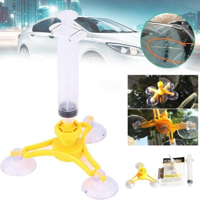Kit de réparation de pare-brise de voiture Auto Crack Glass Resin Sealer Pare-brise Restore Fix Set Triangular ˇ 380-VIQ