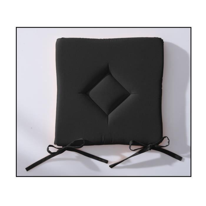 Galette de chaise 40x40 cm today réglisse