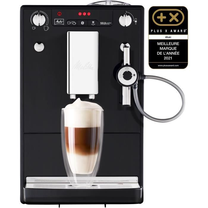 MELITTA E957-101 Machine expresso automatique avec broyeur Caffeo Solo & Perfect Milk - Noir