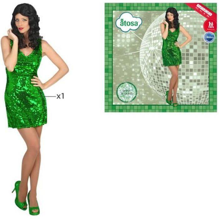 ATOSA Déguisement Disco - Femme - Vert