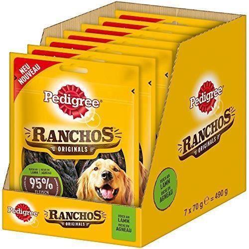 PEDIGREE à friandises pour Chien ranchos Originals, Lot de 7 (7 x 70 g) 4008429105128