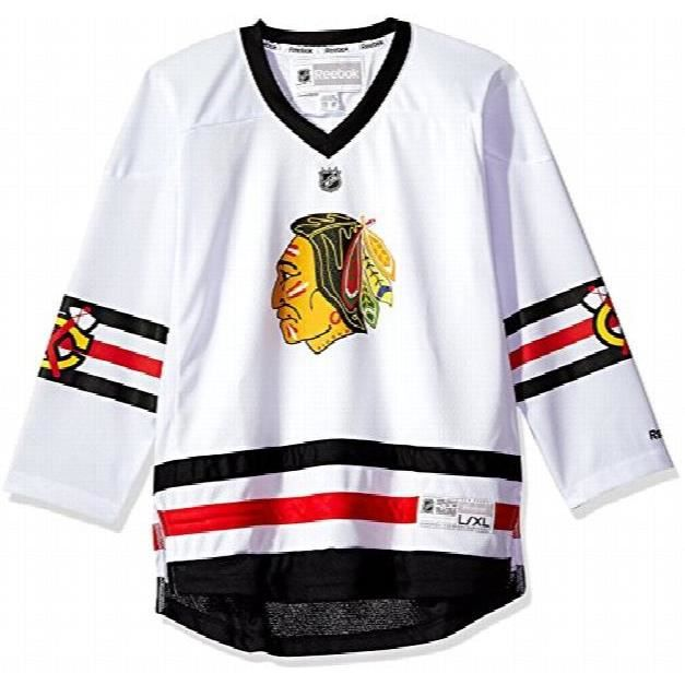 REEBOK Chicago Blackhawks NHL Youth Blank blanc loin Replica Jersey F2UM8
