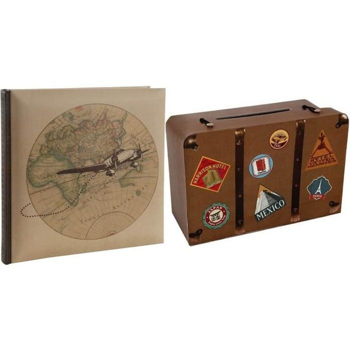 1 Pack urne et livre d'or voyage REF/4856-4808
