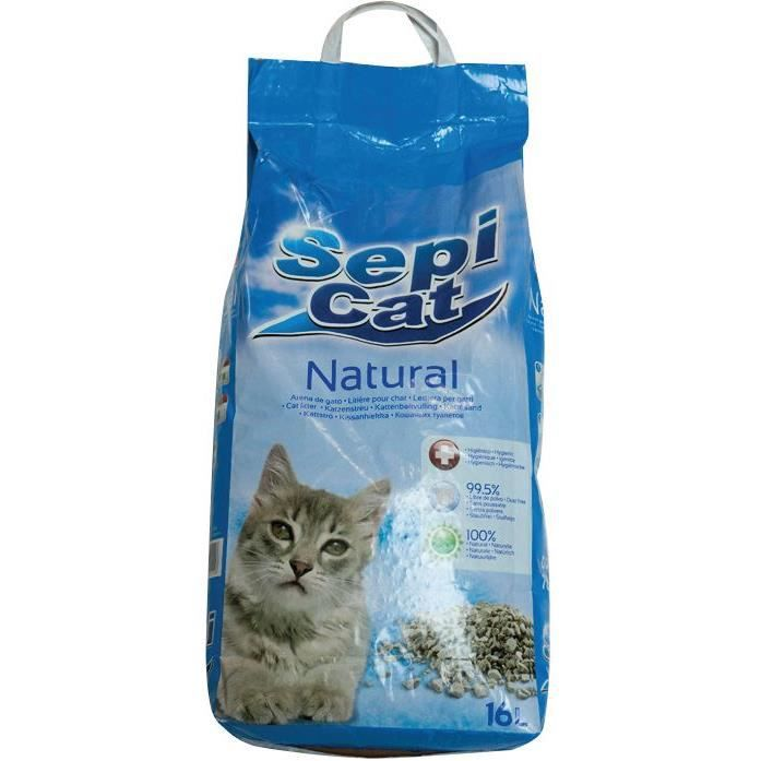 SEPICAT Litière pour chat - 16 L - Nature