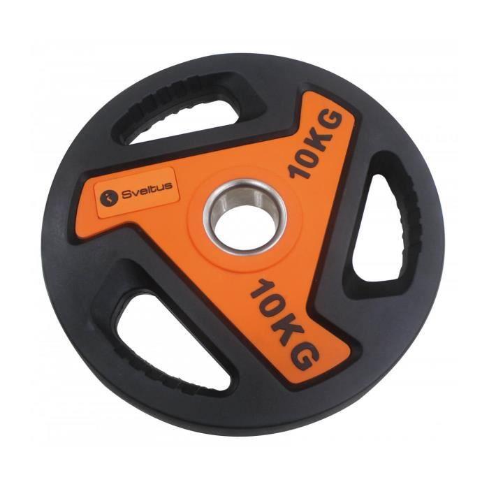 Disque olympique Sveltus 10kg - noir/orange - TU