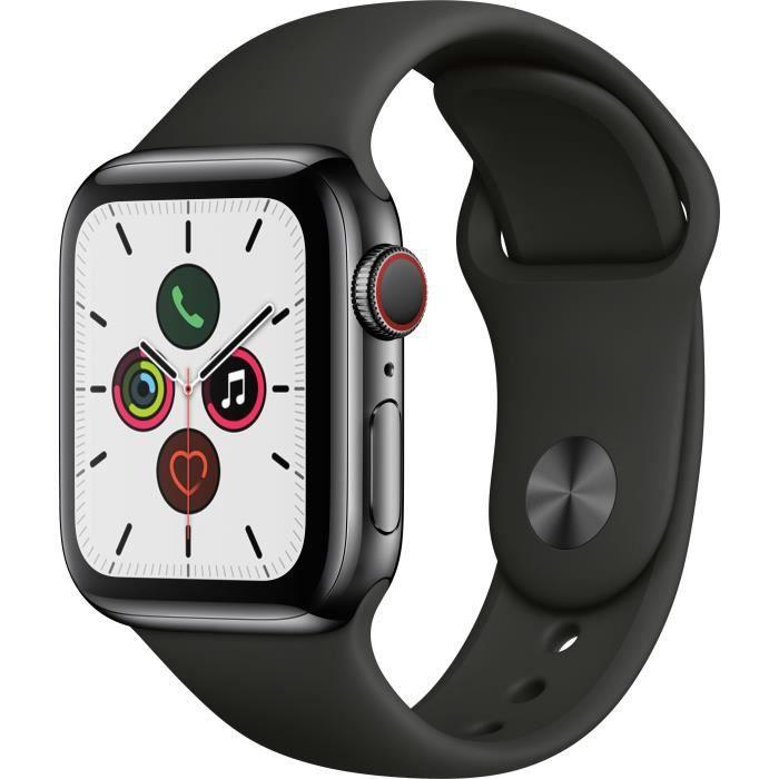 MONTRE CONNECTÉE Apple Watch Series 5 Cellular 40 mm Boîtier en Aci