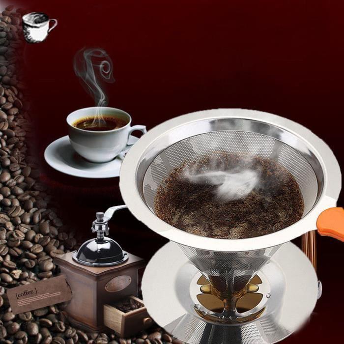 Pratique utile réutilisable filtre à café tasse versez Cafetière dripper