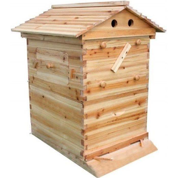 CORPS DE RUCHE Ruche Boîte Miel Automatique Maison en Bois Beehiv
