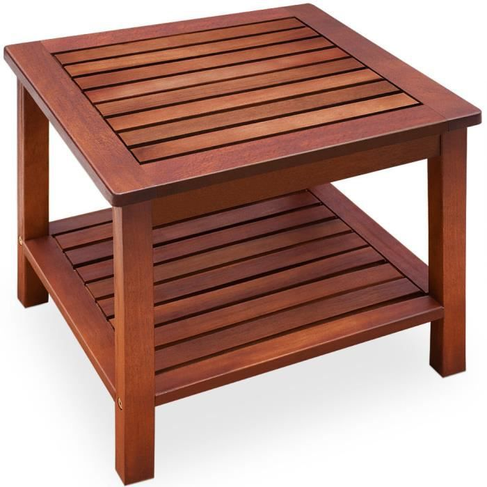 Table basse en acacia bois 45x45x45cm achat vente - Table basse en acacia ...