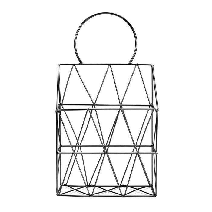Triangle de la maison /Économie despace Pour magazine Noir /Étag/ère de rangement simple /à suspendre au mur Structure en fer