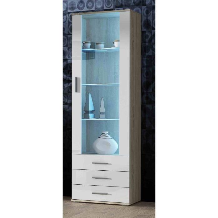 VITRINE - ARGENTIER Meuble vitrine design SANO Bois/Blanc
