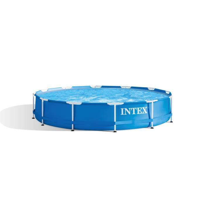 PISCINE INTEX Kit piscine tubulaire ronde Métal Frame - Ø