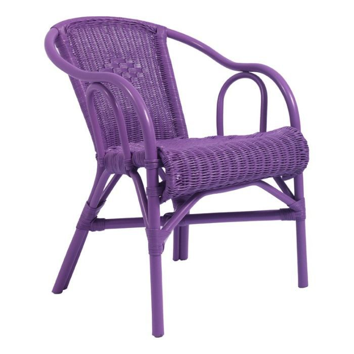 fauteuil violet en rotin teint pastille inwood achat vente fauteuil cdiscount. Black Bedroom Furniture Sets. Home Design Ideas