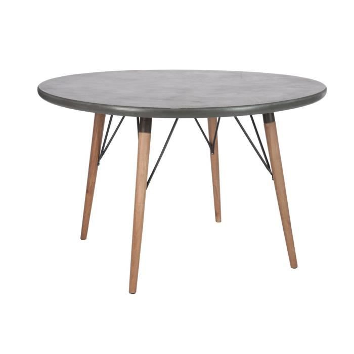 table manger ronde effet b ton 120 x75cm achat vente table d 39 appoint table manger. Black Bedroom Furniture Sets. Home Design Ideas