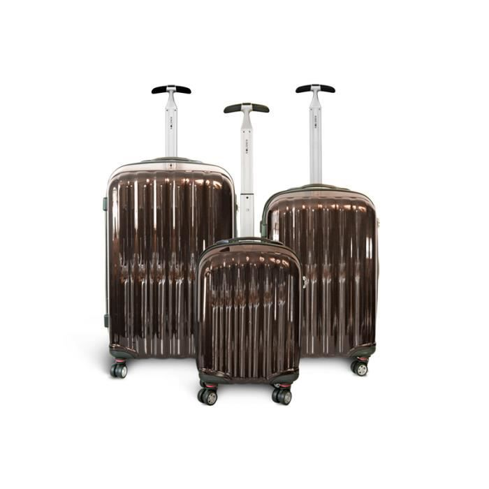 bagage kinston lot de 3 valise 4 roues marron marron. Black Bedroom Furniture Sets. Home Design Ideas