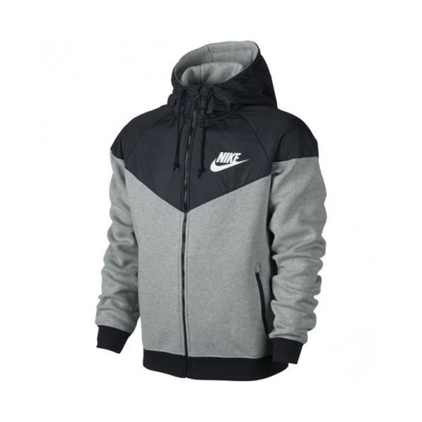 veste coupe vent nike windrunner fleece hoody gris achat vente veste cdiscount. Black Bedroom Furniture Sets. Home Design Ideas