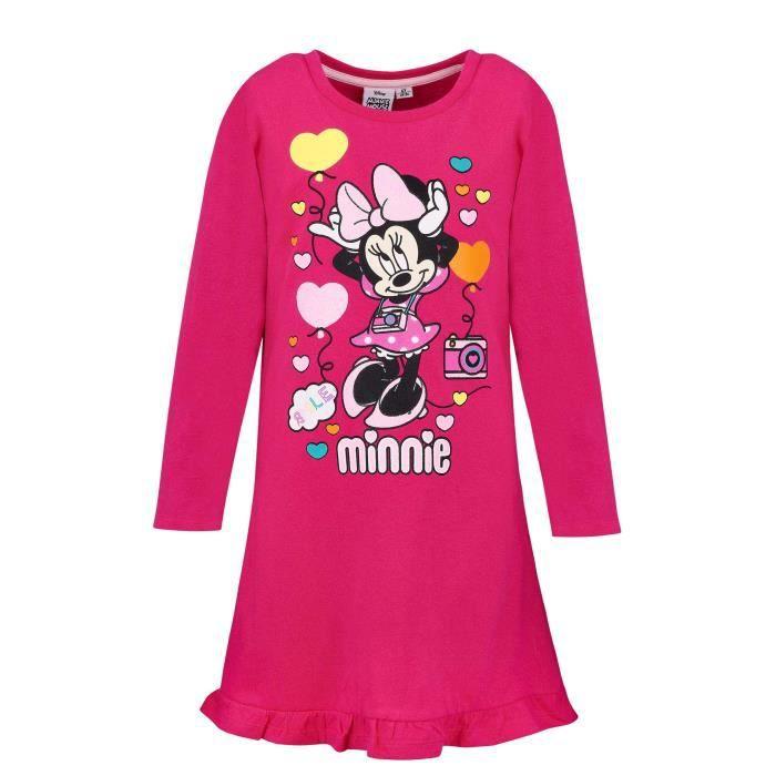 Disney Minnie Fille Robe Fushia