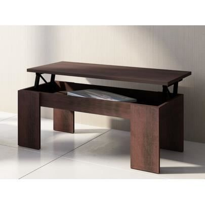 Table basse carmela plateau relevable bois m achat - Table basse wenge but ...