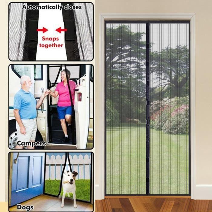 pour Couloirs Portes Patio Moustiquaire sur Mesure de Porte 70 x 180 cm,Rideau de Porte Antimoustique Moustiquaire Ajustable aimant/ée