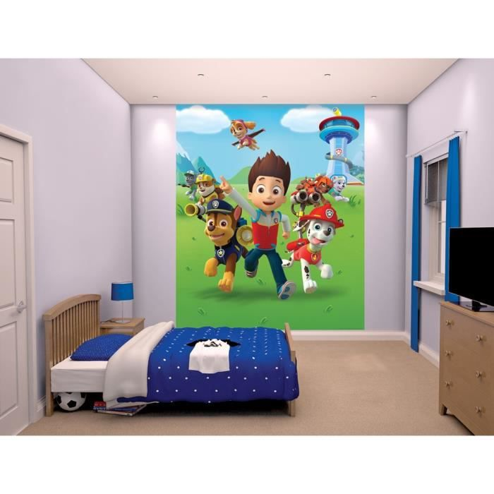 pat patrouille papier peint enfant fresque murale. Black Bedroom Furniture Sets. Home Design Ideas