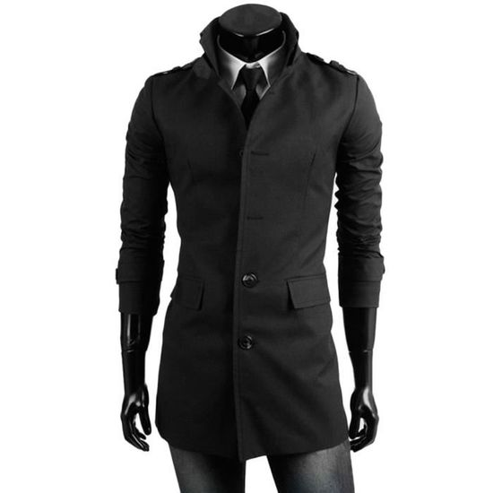 Smart Veste Long Trench Pardessus Outwear Chaude Button D'hiver Xxrqn4AX