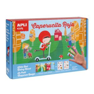 JEU DE MOSAIQUE APLI Boite magic stickers - Le petit chaperon roug