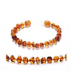 COLLIER AMBRE bracelet d'ambre bébé(Cognac) - 4 Taille(14cm & 16