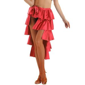 JUPETTE DE DANSE Femme Jupe de Danse Latine Asymétrique Robe Danse