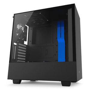 BOITIER PC  NZXT Boîtier PC H500i Noir/Bleu (CA-H500W-BL)