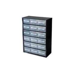 ETABLI - MEUBLE ATELIER Casier de rangement en métal 18 tiroirs
