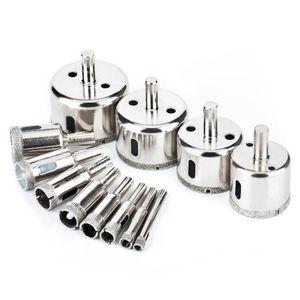 10Pcs 3-8 mm Diamond Coated Core Scie Trou Perceuse Outil Set Pour Verre Marbre Carrelage