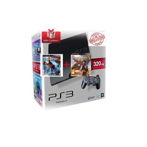 CONSOLE PS3 PS3 Slim 320Go + Uncharted 2 + Uncharted 3