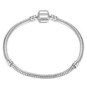 BRACELET - GOURMETTE 17-21cm Bracelet à maillons serpent en argent, aju