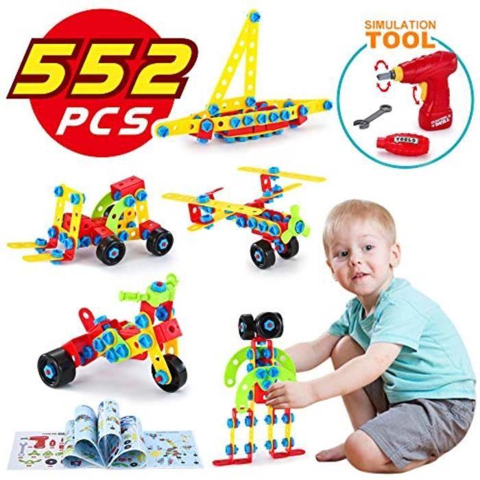 Jeu D'Assemblage SUG47 TINOTEEN Stem Jouets Jeux de construction Blocs de construction Creative Construction Prendre jouet pour 552