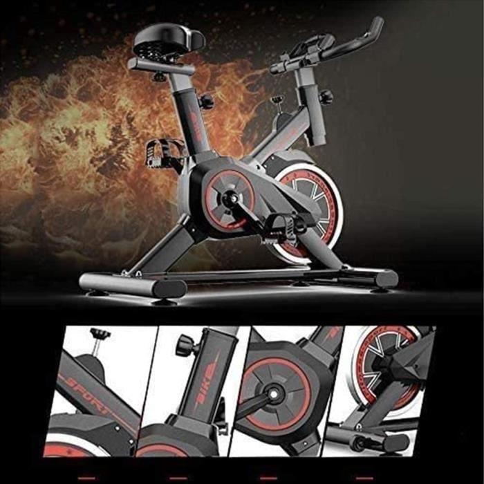 YI'HUI Vélo D'appartement en Vélo D'intérieur, Volant D'inertie De 22 Kg, Siège Réglable, Vélo d'exercice À Pédale D'entraînement À