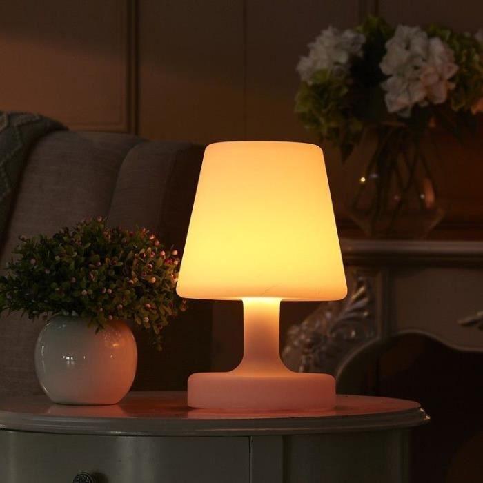 Lampe de table LED RGBW extérieur rechargeable